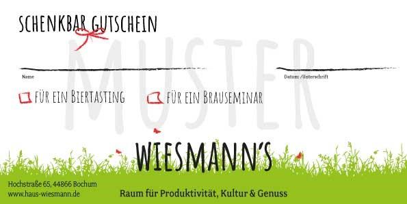 Wiesmann's Gutscheine zum Verschenken
